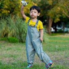 Kids Child Watertight Pants Wader Ourdoor Infant Rain-proof Trousers Boys Girls