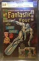 🔵FANTASTIC FOUR🔵 #50 CGC 3.0 🔥SILVER SURFER🔥 OW PGS 1966