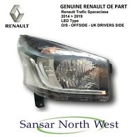 New Genuine Renault Trafic Spaceclass Drivers LED DRL Headlamp Headlight RIGHT