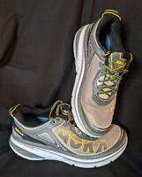 Men's Hoka One One Bondi 4 Running Shoes Gray & Yellow Size 9