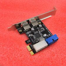 2 Ports PCI Express USB 3.0 Control Card Adapter 4-Pin & 20 Pin C26 new