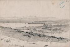 George Charles haite Victorian dessin 1894 Seaford Head Golf de Downs