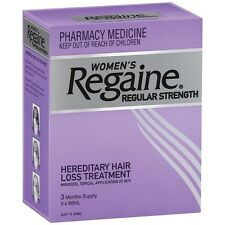 BEST PRICE! REGAINE WOMENS REGULAR STRENGTH 3 MONTHS SUPPLY 3 X 60ML HAIR LOSS