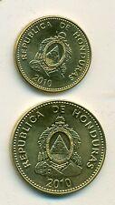 2 NICE COINS from HONDURAS - 5 & 10 CENTAVOS (BOTH DATING 2010)