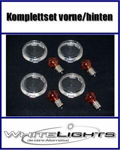 Weisse Klarglas Blinker Gläser Harley Davidson Softail clear signal lenses