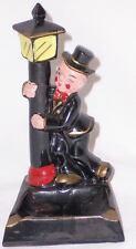 Vintage UNIQUE Ceramic Drunk Boozer Hobo Chaplin Guy Lamp Post Ashtray Japan