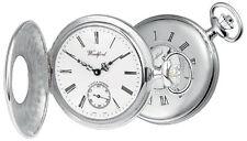 Half Hunter Pocket Watch Sterling Silver Swiss 17 Jewel Mechanical Woodford 1067