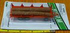 Boley HO 185-20381 3-Axle Trailer w/Log Load -- red
