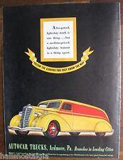 """1937 Autocar Trucks Ad (Ardmore, Pa.) 10.5 x 14"""""""