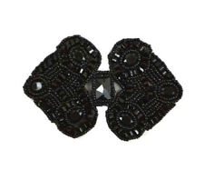 BLACK DOUBLE DIAMOND BEADED APPLIQUE 2093-D