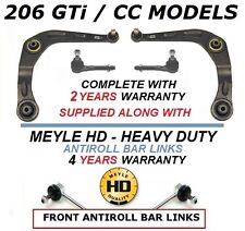 FOR PEUGEOT 206 GTi CC HDi 2 FRONT LOWER WISHBONE ARMS ARM LINKS TRACK ROD ENDS
