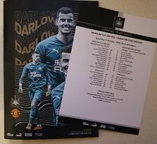 NEWCASTLE UNITED  V  MANCHESTER UNITED PROGRAMME & OFFICIAL TEAMSHEET