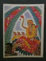 1939 ST. Francis Hotel Menu, Cover by Frank MacIntosh 'Hawaii, The Celebration'