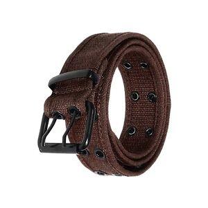 Gelante Canvas 2 holes Double Rows Grommet Hole Belt Fabric Military web belt