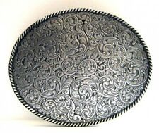 Großes Western-Buckle, mit feinem rankenartigem Muster, Gürtelschnalle