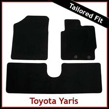 Toyota Yaris Mk3/XP130 2012 adelante Tailored Alfombra Tapetes Coche Negro