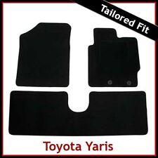 TOYOTA YARIS Mk3 / XP130 2012 onwards Tailored Carpet Car Floor Mats BLACK