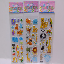 10x Cartoon Animals Zoo 3d Stickers Children Girls Boys PVC Stickers Kids Toys