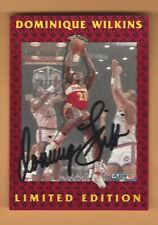 DOMINIQUE WILKINS 1992 FLEER  LIMITED EDITION AUTOGRAPH CARD #11 OF 12
