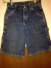 Carpenter blue jeans shorts size 10 boys waist is 24 inseam 10 by Wrangler