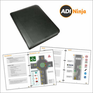 Driving Lesson Plan Diagrams for driving instructor, laminated in zip binder