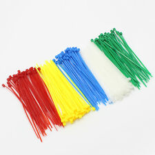 "500 PCS 4"" inch Network Cable Cord Wire Tie Strap 15 Lbs Zip Nylon Five Color"