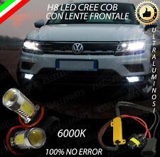COPPIA LAMPADE FENDINEBBIA H8 LED CREE COB CANBUS VW TIGUAN MK2 100% AVARIA LUCI