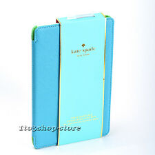 Kate Spade Folio Hard Saffiano Leather Case Cover for iPad Air 2 Aqua Blue/Green