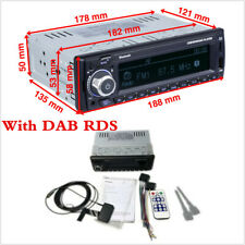 Car Radio Stereo Auto Radio Support AM FM RDS Bluetooth USB SD with DAB Antenna