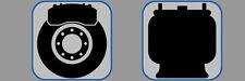 Qualité Avant Et Arrière Disques De Frein & Plaquettes Golf MK5 R32 3.2 4 Motion