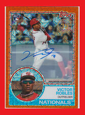 Victor Robles 2018 Topps '83 Silver Pack Chrome Auto Orange Refractors #27 17/25