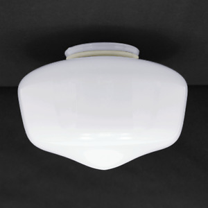 "Globe Replacement 7"" White School House Light Glass Shade 3.25"" Fitter  236-G10"
