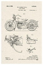 HarleyDavidson Motorcycle 1928 Official Patent Diagram Poster 12x18