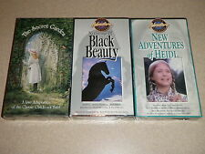 Lot Of 3 VHS Black Beauty The Secret Garden New Adventures Of Heidi NEW SEALED