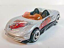 Hot Wheels Extreme Sports Series MX48 Turbo Silver 081 3-Spoke Wheel 1/64 Loose