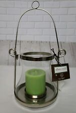 Allen + Roth Decorative Silver and Glass Hanging Candle Lantern New