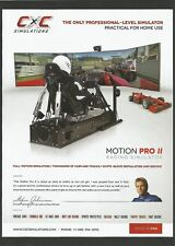 MOTION PRO II RACING SIMULATOR Print Ad # 42 3