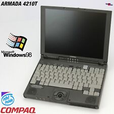 NOTEBOOK COMPAQ  ARMADA 4200T 4210T PENTIUM 233MHZ MMX LAPTOP WINDOWS 95 98 FDD