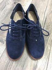 Clarks Sumerset Wide Fit Blue Flat Shoes UK 3 E / EUR 35.5