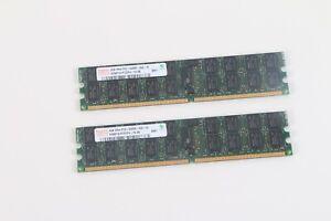 Hynix 4GB 2Rx4 PC2-5300P-555-12 HYMP151P72CP4-Y5 RAM Lot De 2
