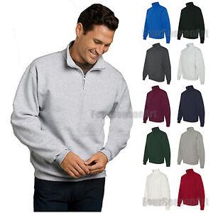 JERZEES Quarter Zip Cadet Collar Sweatshirt 50/50 Mens Fleece S-3XL 995MR-995M