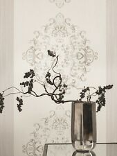 Vliestapete Caselio 81289104 Barock / Ornament Creme Silber Gold / 6,19 €/qm
