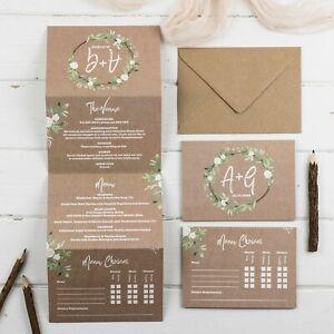 Kraft Meadow Deluxe Wedding Invitations (bespoke listing)