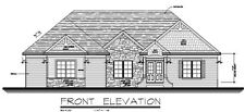 Custom House Plans 1850 square feet Brick and Stone Basement Ranch