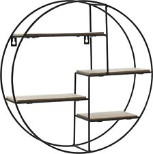 Bonsai Tree Shelf Stand. Round Wall Mounted Compartment shelving Display Shelf