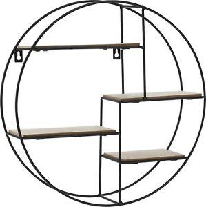 Bonsai Tree Shelf Stand. Round Wall Mounted Compartment shelving Display Shelf
