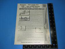 Vintage Remington Instruction Folder Parts Price Model 700 Varmint Rifle M6598