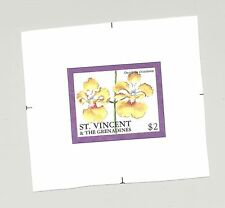 St Vincent #2340 Orchids 1v Imperf Chromalin Proof