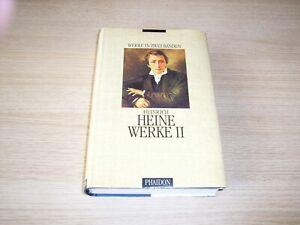 Heinrich Heine Werke in zwei Bänden hier: nur Band II Phaidon Verlag gebunden