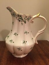 Peppertree Tabletops Green Vine Pitcher w Gold Trim